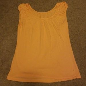 Ann Taylor Loft orange short sleeve top, XS